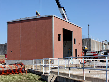 Precast Concrete Chemical Storage Building