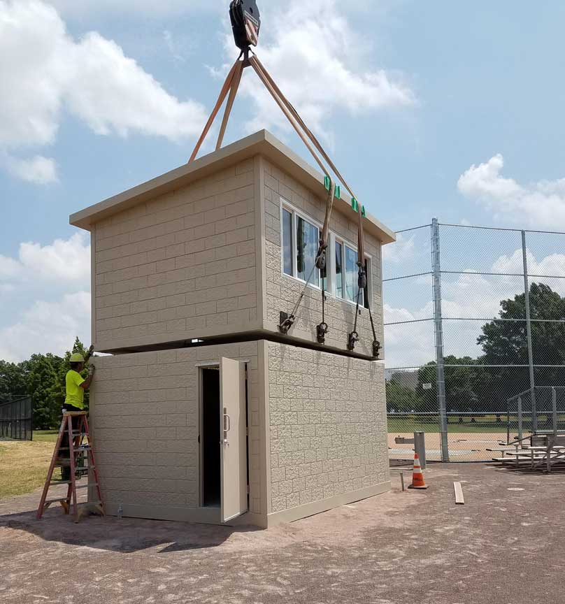 Oldcastle Precast Easton PA Easi Set press box 3 FDR park