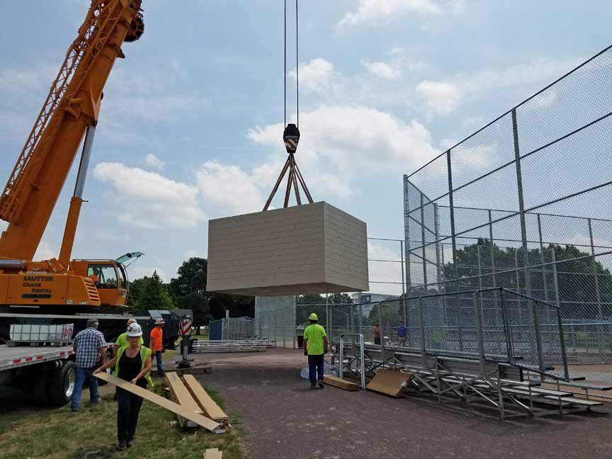 Oldcastle Precast Easton PA Easi Set press box 4 FDR park